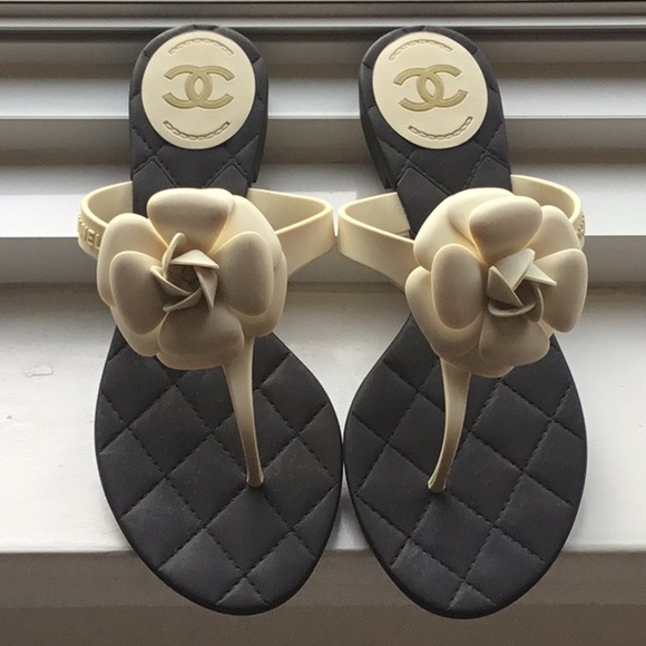 7698898398a9 CHANEL Shoes - Chanel Camilla Rubber Thong Sandals